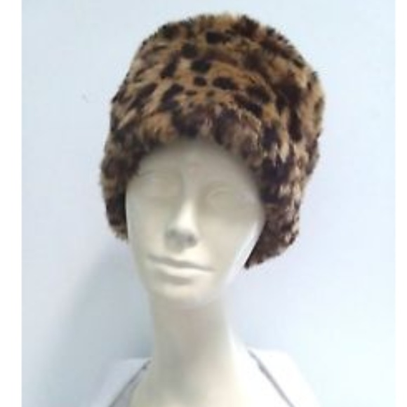 0e4159808470 Nine West Accessories | Hat Leopard Print Bucket Faux Fur Cap | Poshmark